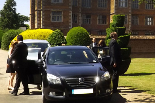 VIP service with hostess and bodyguard